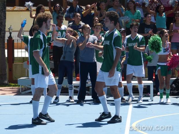 Sidney e Ben no jogo (Foto: Malhação / Tv Globo)