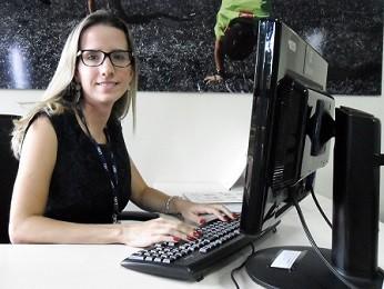 A psicóloga e representante do setor de Adoção Nacional, Paula Freire (Foto: Raquel Morais/G1)