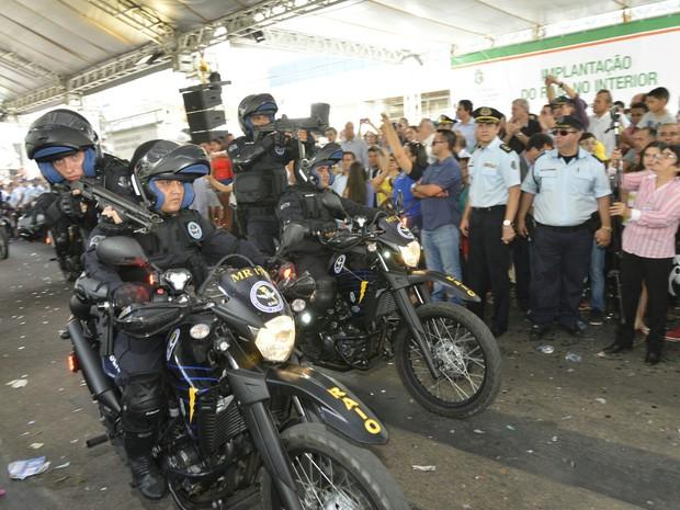 Grupo especializado no policiamento em motos deve atender 15 municípios da região Centro Sul (Foto: Marcos Studart)