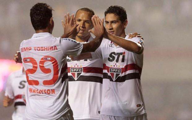 ganso, São Paulo comemora gol sobre Bragantino (Foto: Miguel Schincariol/Agência Estado)