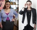 Raquel Fabbri antes e depois de perder 15 quilos   Tv Globo/Carol Beiriz