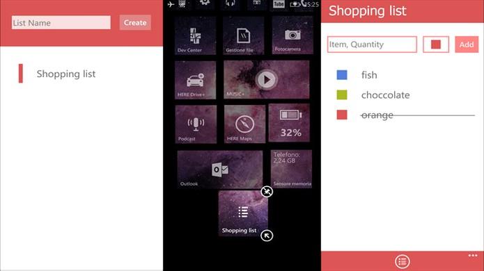 Quick List é um app que ajuda usuário a se organizar no Windows Phone (Foto: Divulgação/Windows Store)