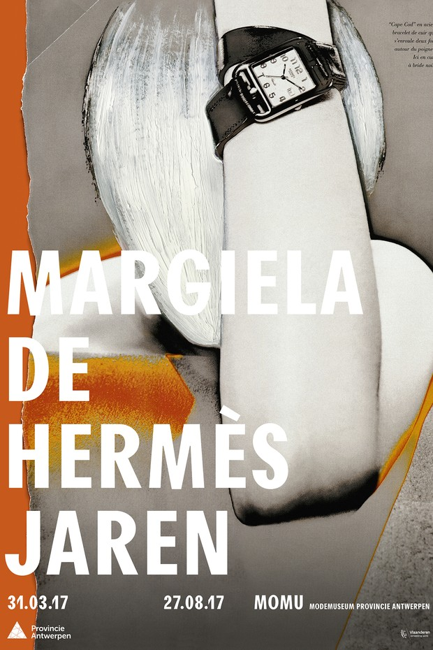The poster for the new Margiela exhibition at MoMu in Antwerp (Foto: MOMU)