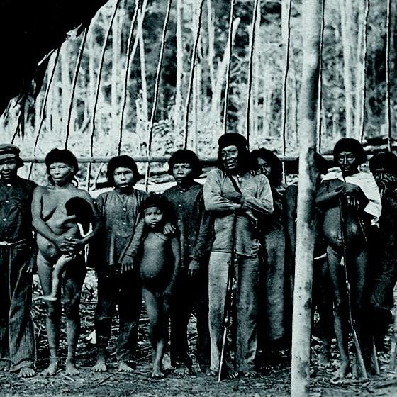 Índios Ipuriná em 1889. (Foto: Ermano Stradelli)
