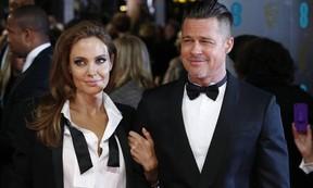 Angelina Jolie e Brad Pitt em março de 2016 (Foto: AFP)