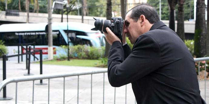 Jornalista Victor Darwin Rodriguez hotel inglaterra (Foto: Cleber Akime)