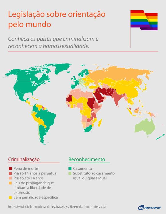 Legislação sobre orientação de gênero pelo mundo (Foto: Agência Brasil)