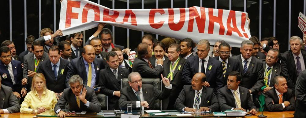 Plenário da Cãmara no dia 17.04. (Foto: Sergio Lima/ Época)