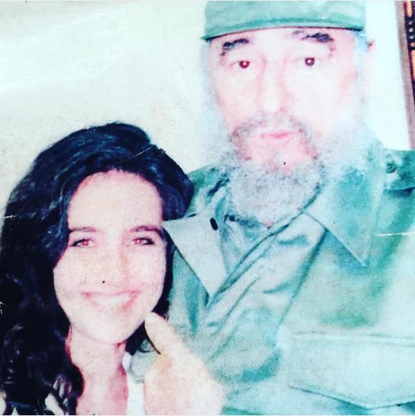 Monique Curi e Fidel Castro (Foto: Reprodução/Instagram)