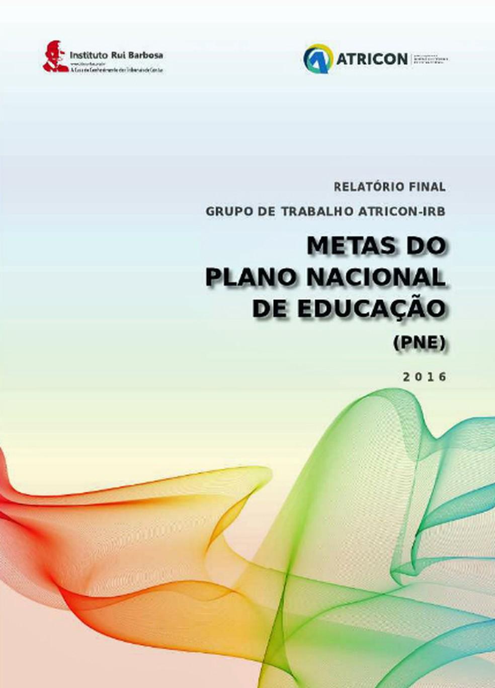 Relatório de grupo de trabalho dos tribunais de conta sobre as metas do PNE será apresentado nesta quarta (Foto: Reprodução)