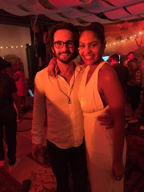 Rodrigo Santoro e Bárbara Reis (Foto: Arquivo pessoal)