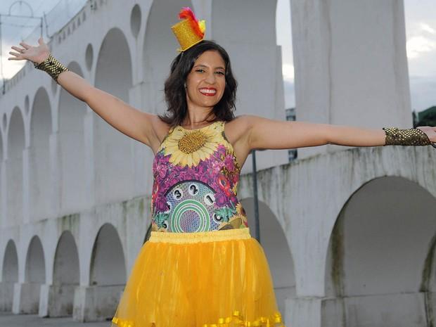 Mariana se disse feliz pela conquista e entusiasmada com os rumos de sua carreira musical (Foto: Alexandre Durão/G1)