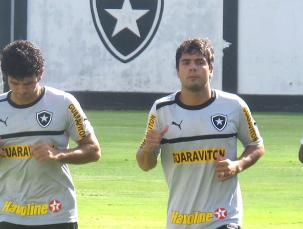 Jeferson e Henrique, Treino Botafogo (Foto: Thales Soares / Globoesporte.com)