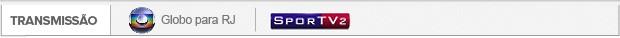 Header Transmissão Globo para RJ e SporTV 2 (Foto: Editoria de Arte)