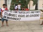 Índios protestam em frente ao Palácio dos Leões em São Luís