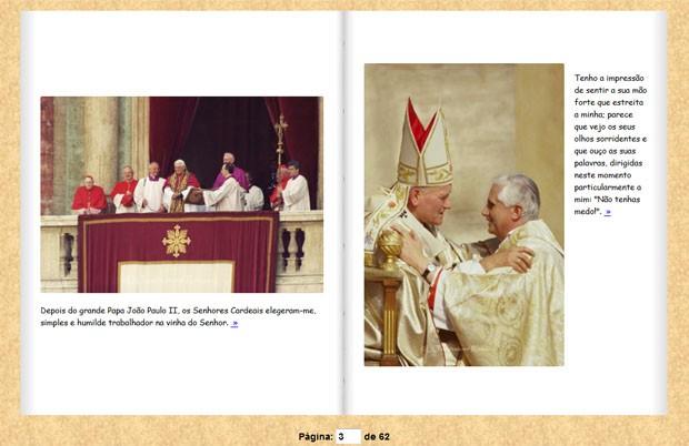 Fotografias do álbum virtual do Papa Emérito Bento VXI (Foto: Reprodução)