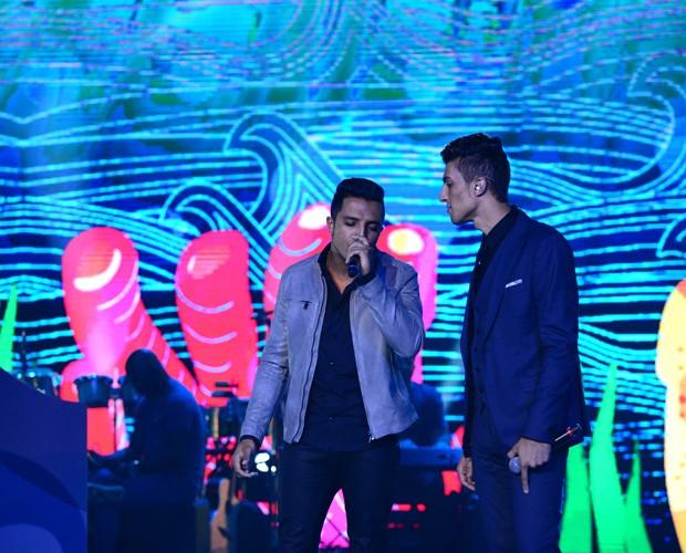 Danilo Reis e Rafael no ensaio da final (Foto: Camila Serejo)