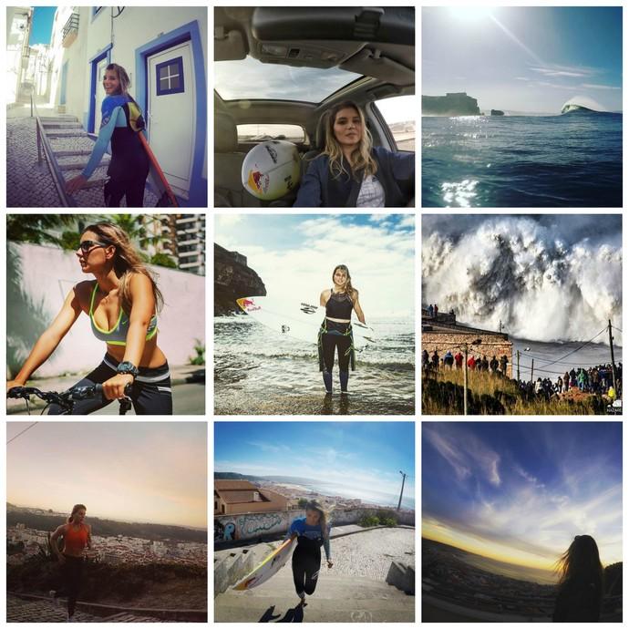 Maya Gabeira volta a Nazaré, em Portugal, quase três anos após grave acidente em onda de 25m (Foto: Reprodução/Instagram)