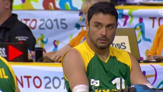 Luis Fernando Cavalli rúgbi em cadeira de rodas (Foto: Reprodução)