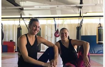 Ronda Rousey treina com boxeadora olímpica para luta com Amanda Nunes