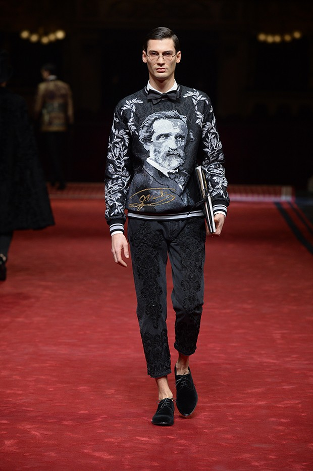 Verdi inspired both the setting and the look for D&G couture this season (Foto: DOLCE & GABBANA)