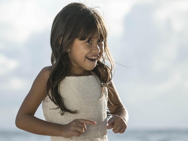 A pequena Bella foi uma das responsáveis pelo final feliz de seus pais (Foto: Raphael Dias/Gshow)