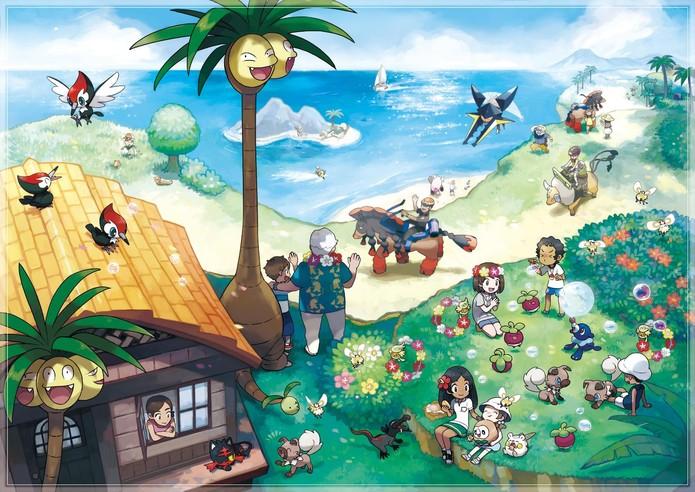 Primeiras impressões de Pokémon Sun e Moon (Foto: Divulgação/Nintendo)