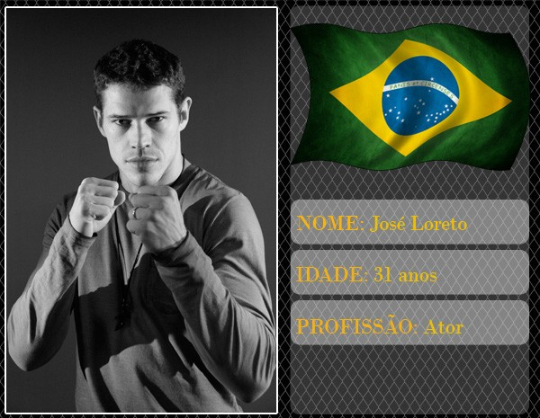 José Loreto encarna um lutador de UFC no site do Altas Horas (Foto: Marcos Mazini/Gshow)