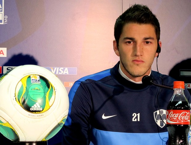 Hiram Mier, jogador do Monterrey (Foto: Cahê Mota / Globoesporte.com)