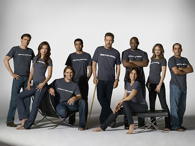 Elenco central da quarta temporada do seriado 'House' (Foto: Divulgação)
