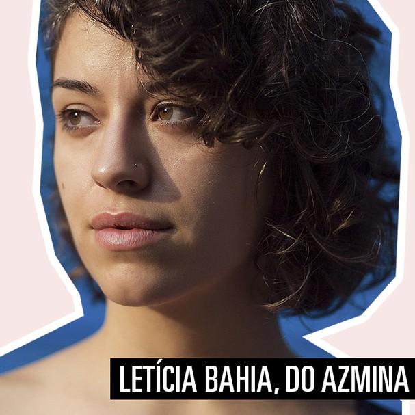 Letícia Bahia, do AzMina (Foto: Arte: Renata Kameda)