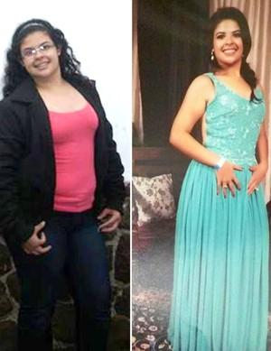 Após atingir 103kg e vestir nº 48, estudante troca rotina e perde 35kg (Foto: Geovana Michelini / Arquivo pessoal)