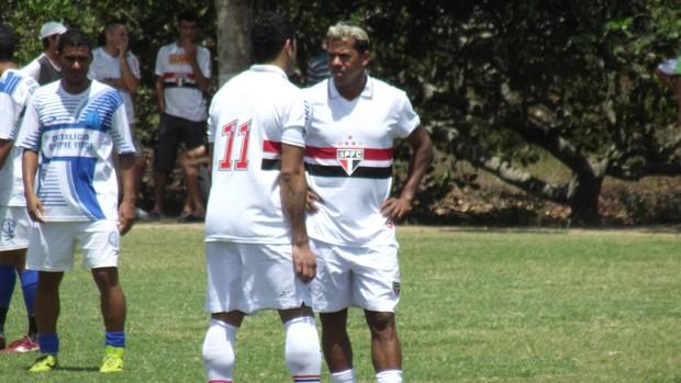 Hulk e Marcelinho Paraíba participam de jogo de confraternização do volante do São Paulo, Denilson (Foto: Silas Batista / Globoesporte.com/pb)