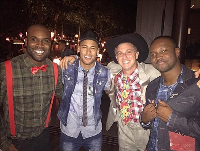 Zulu, Neymar, Huck e Thiaguinho (Foto: Arquivo Pessoal)