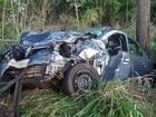 Acidente deixa uma vítima fatal e três feridos na MGC-497 sentido Prata