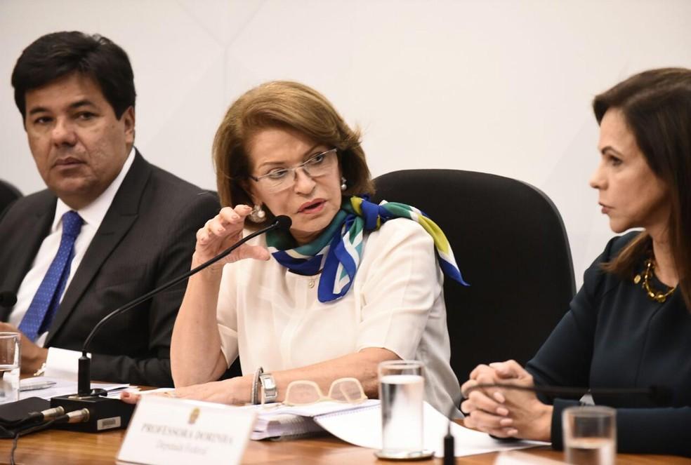 Maria Helena Guimarães de Castro, secretária-executiva do MEC, apresentou a base curricular nesta quinta (Foto: Rafael Monteiro/MEC/Divulgação)