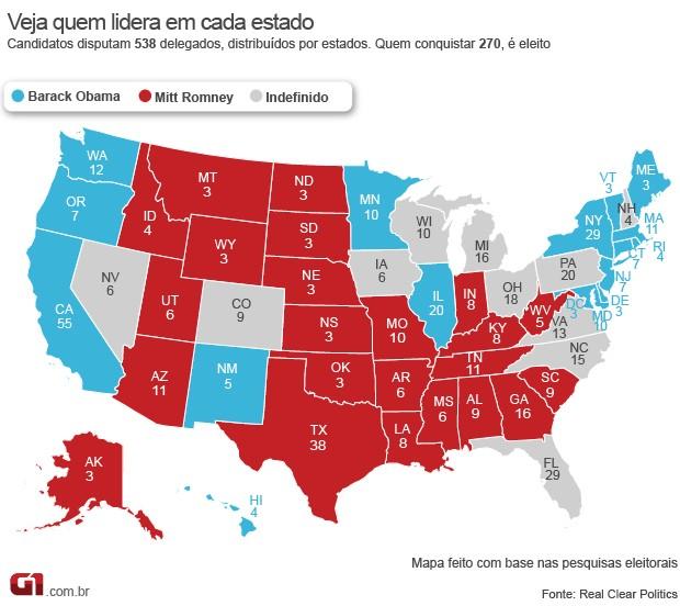 mapa estados eua  versao 3 (Foto: 1)