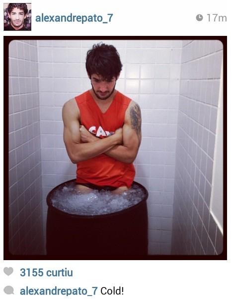 Pato sofre com o banho de gelo (Foto: Reprodução / Instagram)