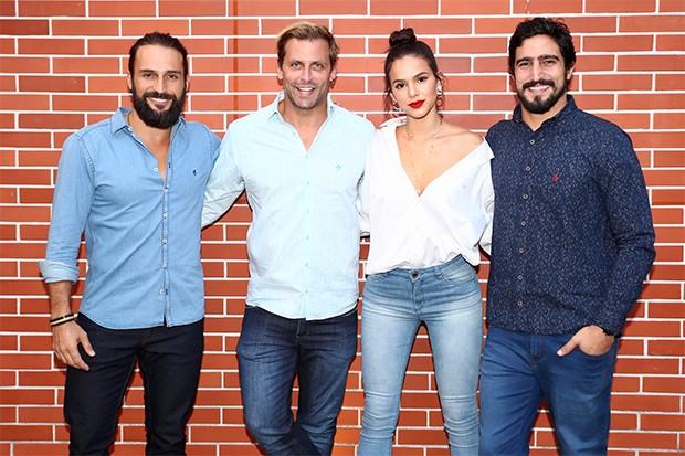 José Fidalgo, Henri Castelli, Bruna Marquezine e Renato Góes (Foto: Manuela Scarpa/Brazil News)
