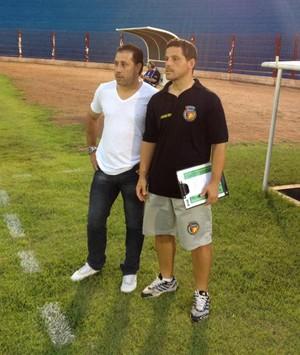 Patrick Belletti e o treinador Gilberto Papagaio trabalham desde 2013 juntos (Foto: Arquivo Pessoal)