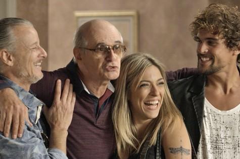 Parte da família de Feliciano (Foto: TV Globo)