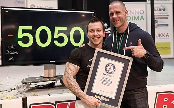 O recordista recebe o reconhecimento de representante do Guinness