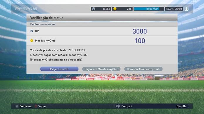 Contrate o treinador usando GP ou moedas myClub (Foto: Reprodução/Thiago Barros)