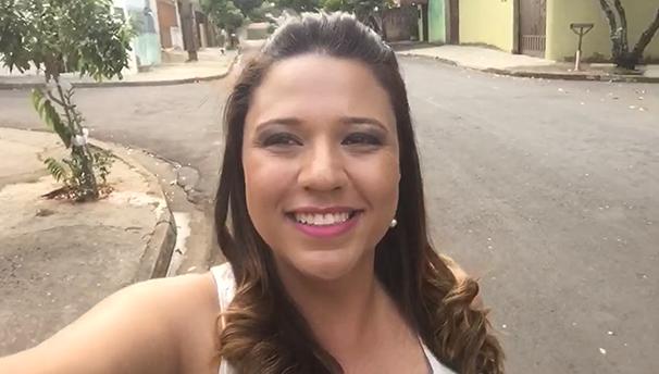 Katiuscia Reis visita a Cecap, em Prudente (Foto: Reprodução TV Fronteira)