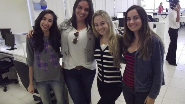 Estudantes de Jornalismo da Veiga de Almeida visitam a Inter TV RJ (Foto: Laís Vargas)