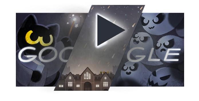 Google comemora o Halloween com doodle especial e interativo (Foto: Reprodução/Felipe Vinha)