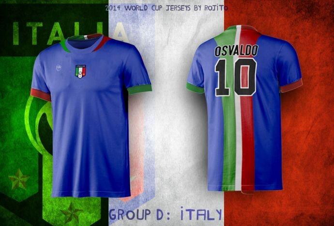 Blog da Copa - design camisa da Itália
