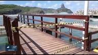 Ondas grandes danificam porto de Fernando de Noronha