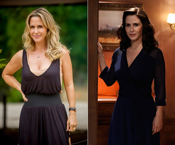 Loira versus morena: Guilhermina Guinle como Pia de 'Verdades Secretas' e Ilde em 'Êta Mundo Bom!' (Foto: Raphael Dias/Gshow)