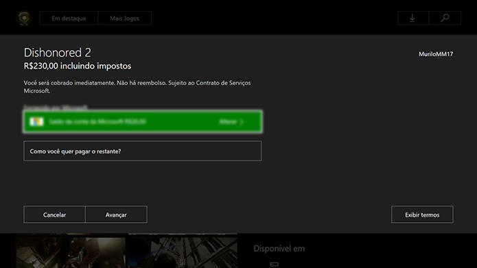 Efetue o pagamento do Dishonored 2 (Foto: Reprodução/Murilo Molina)